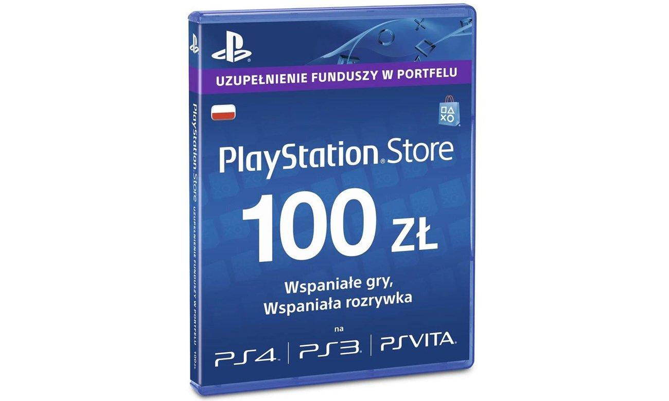 Karta przedpłacona PlayStation Live Card o wartości 100 PLN do sklepu PSN