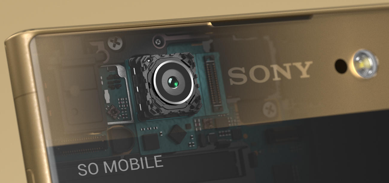Sony Xperia XA1 Ultra szerokokątne selfie 16 Mpix