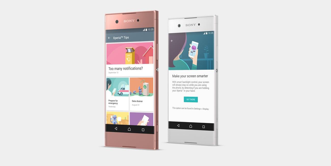 Sony Xperia XA1 inteligentne personalizowane powiadomienia