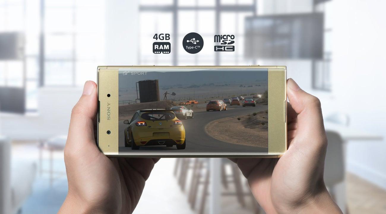 Czarna Sony Xperia XA1 Plus ośmiordzeniowy procesor Helio P20