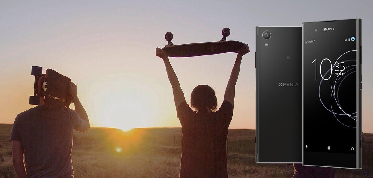 Czarna Sony Xperia XA1 Plus bateria tryb STAMINA