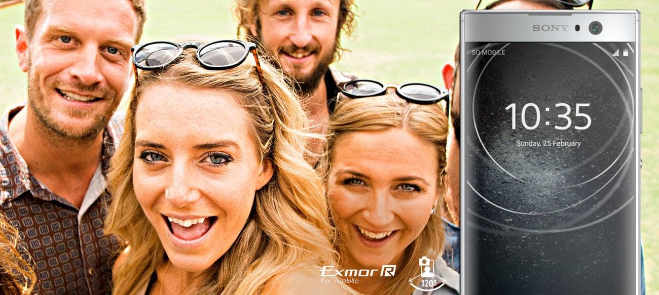 Sony Xperia XA2 8 mpix szerokokątny obiektyw 120