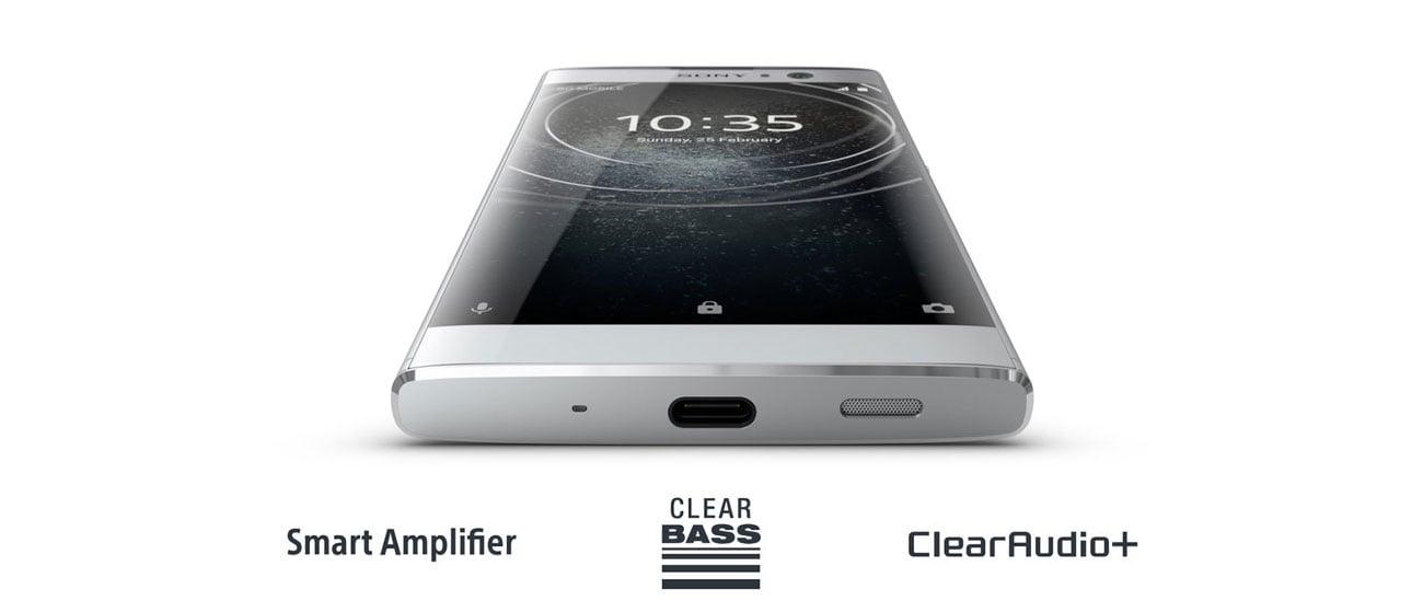 Sony Xperia XA2 clear audio+ smart amplifier bass