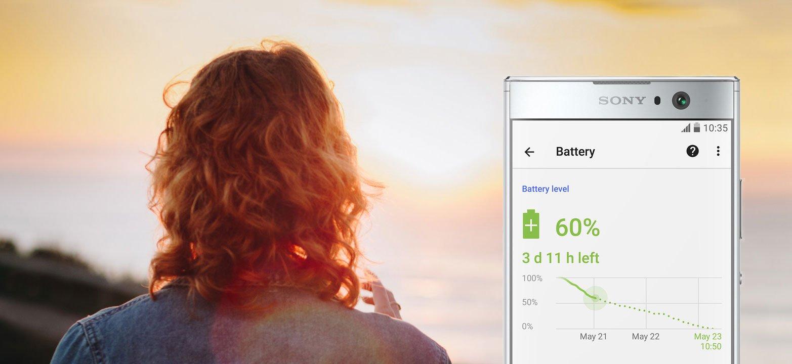 Sony Xperia XA2 bateria 3300 mAh tryb stamina