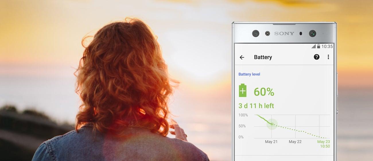 Sony Xperia XA2 Ultra bateria 3580 stamina adaptive charging