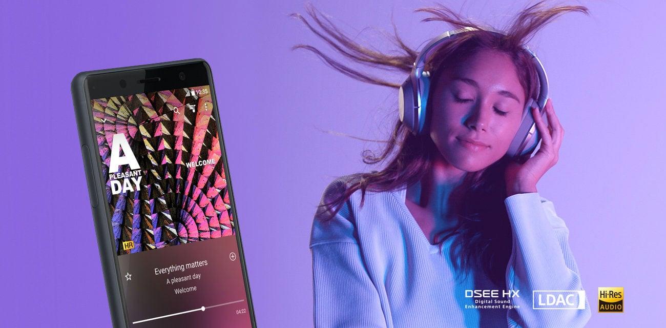Sony Xperia XZ2 compact cyfrowy dźwięk DSEE HX technologia LDAC