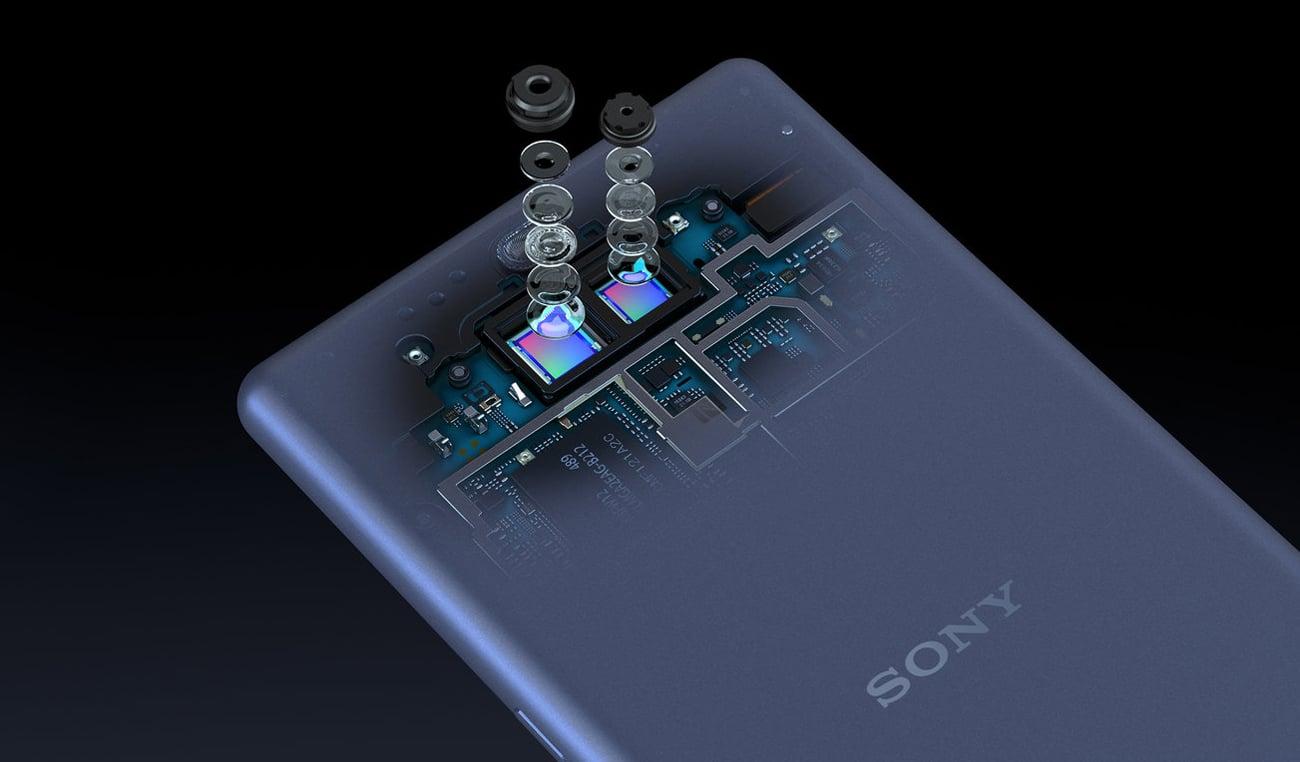 SONY Xperia 10 podwójny aparat 4k bokeh