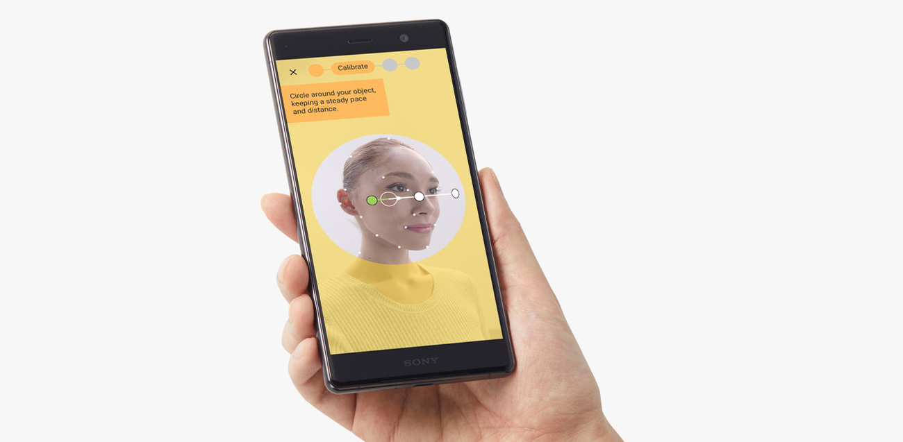 Sony Xperia XZ2 Premium kreator 3D rzeczywistość rozszerzona