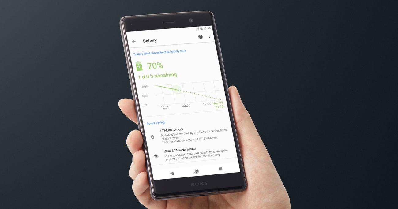 Sony Xperia XZ2 Premium bateria 3540 mAh smart stamina qnovo