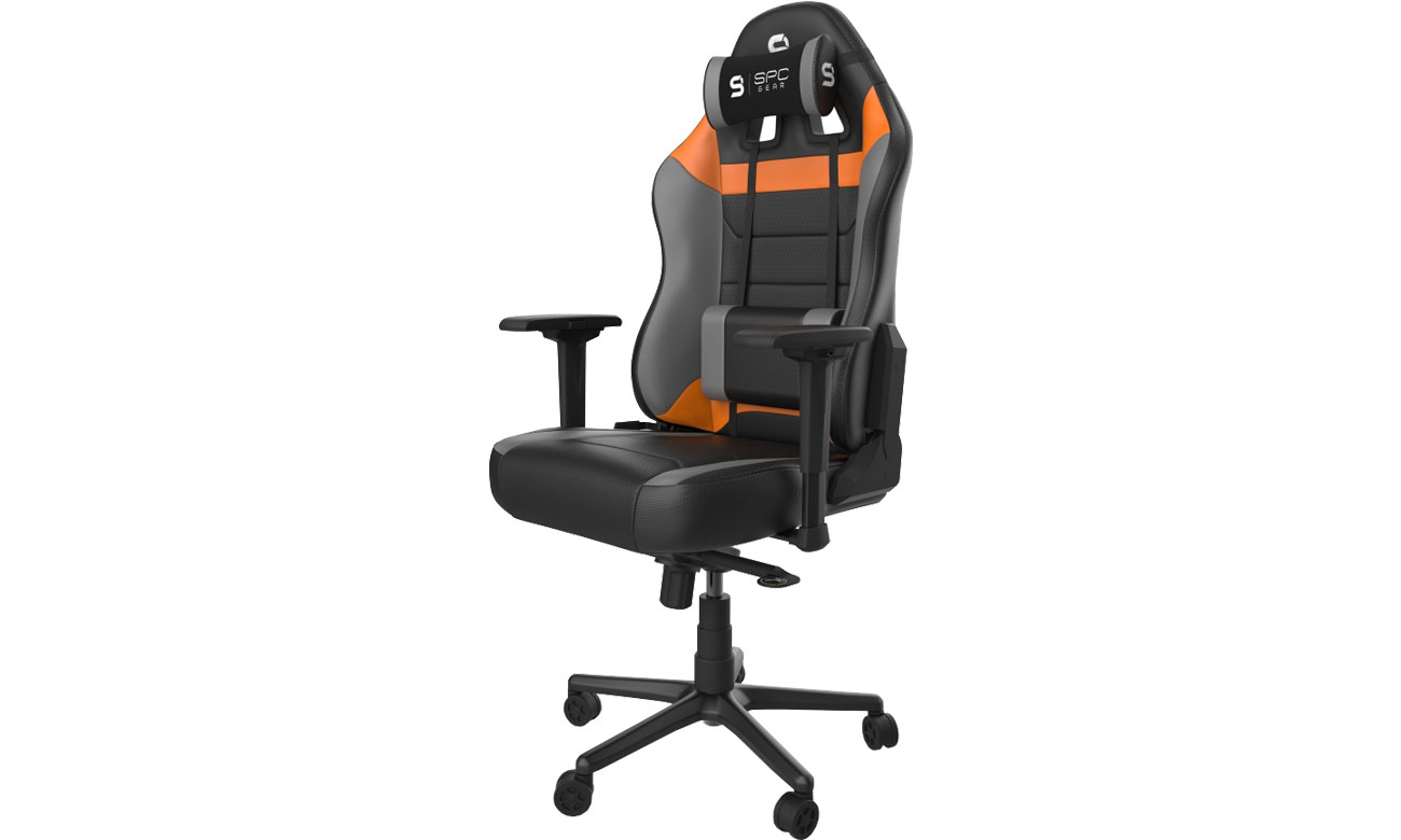 Fotel gamingowy SPC Gear SR800 (Czarno-Pomarańczowy) SPG032