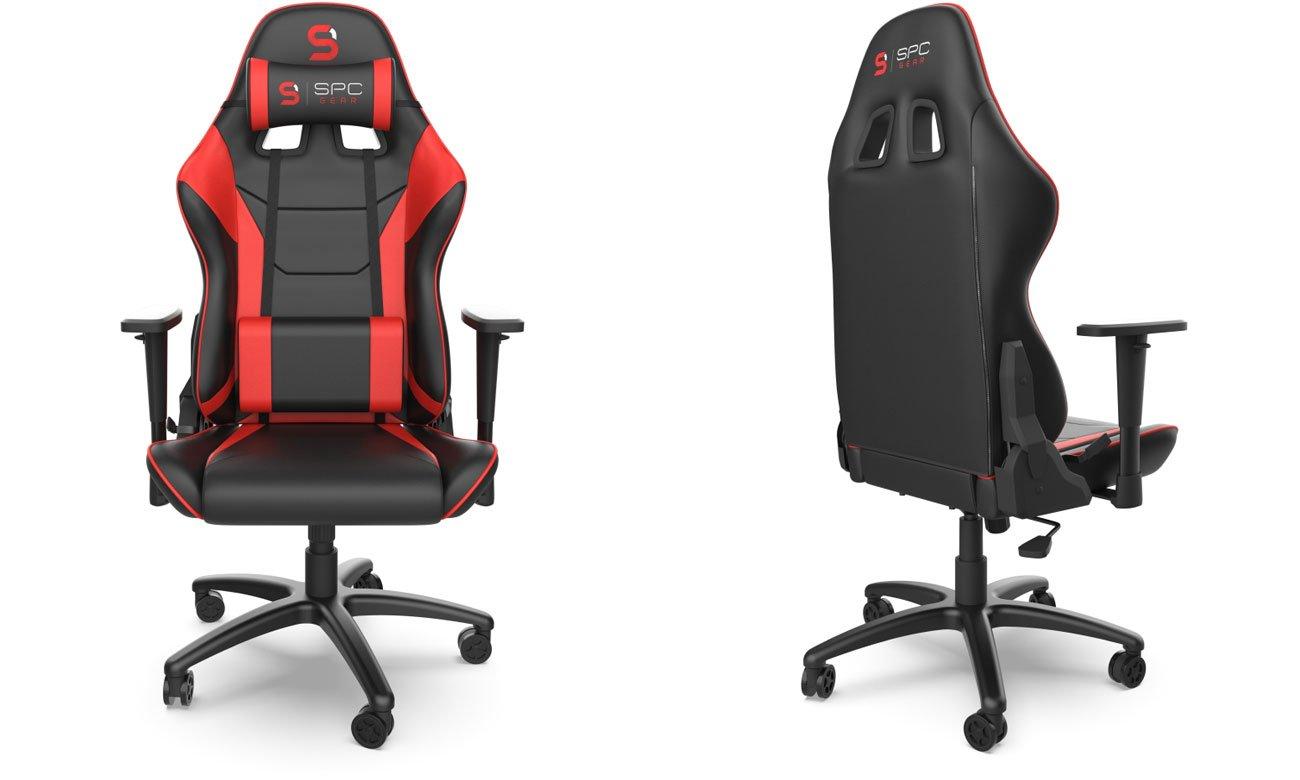 Fotel dla gracza SPC Gear V2 Czarno-czerwony