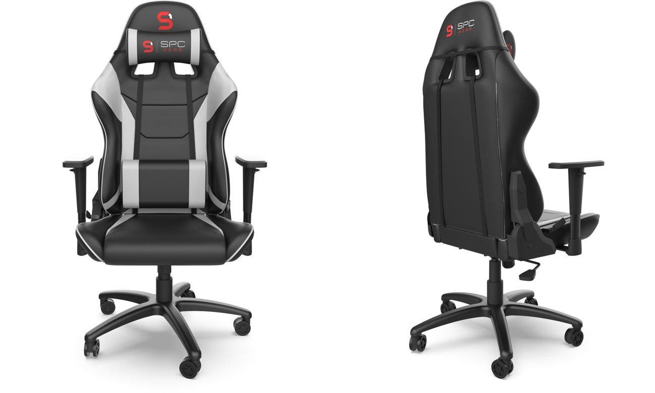 Fotel dla gracza SPC Gear V2 Czarno-biały