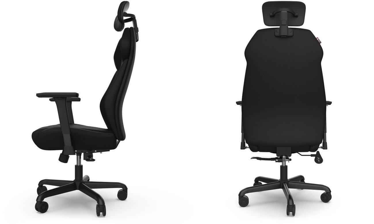 Zapewnia prawidłową pozycję siedzącą