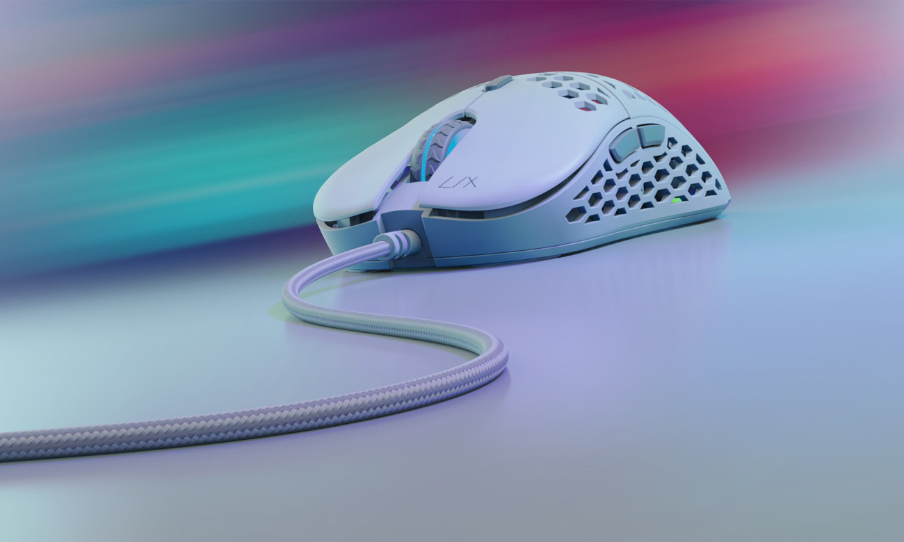 Gamingowa mysz SPC Gear LIX Onyx White