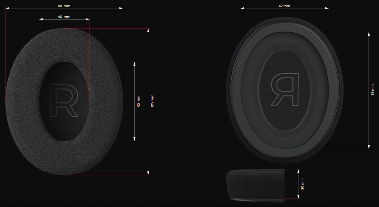 Gąbki do słuchawek SPC Gear Memory Foam Earpads Hybrid Velour/PU
