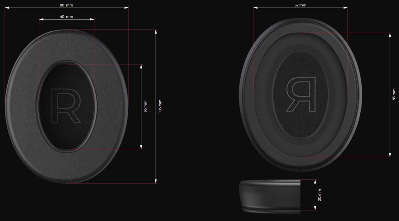 Gąbki do słuchawek SPC Gear Memory Foam Earpads PU Leather