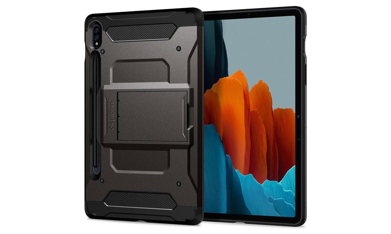 Etui na tablet Spigen Tough Armor Pro do Galaxy Tab S7 Gunmetal ACS01605