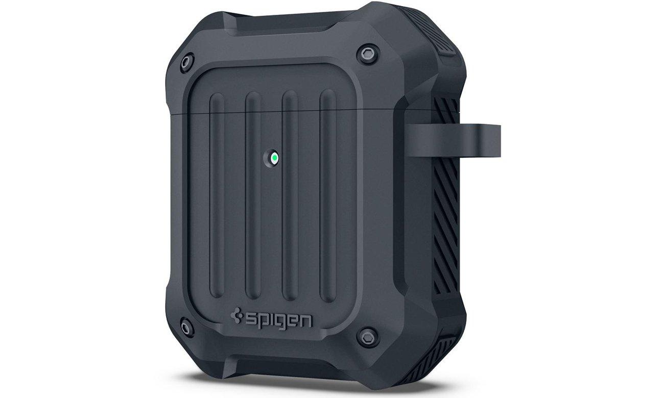 Etui Spigen Tough Armor na słuchawki Apple AirPods Grafitowe