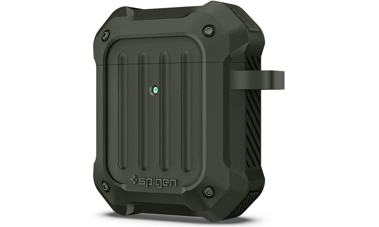 Etui Spigen Tough Armor na słuchawki Apple AirPods Wojskowa Zieleń