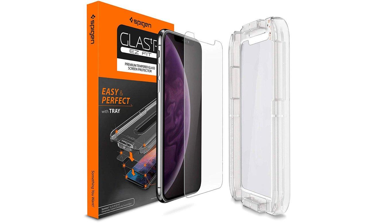 Spigen Szkło hartowane GLAS.TR EZ FIT do iPhone Xs + Aplikator 063GL24823