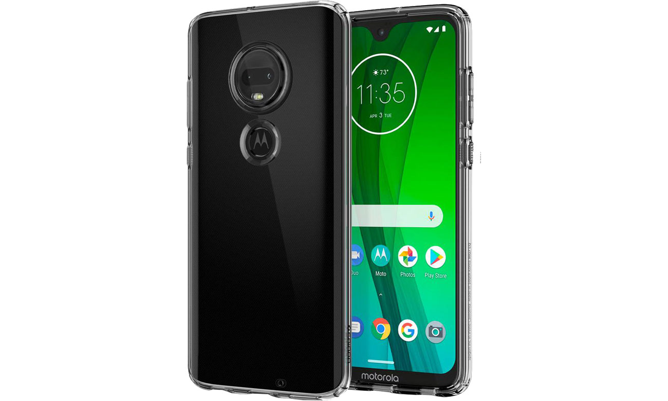 Spigen Liquid Crystal do Motorola Moto G7/G7 Plus Clear M25CS25948