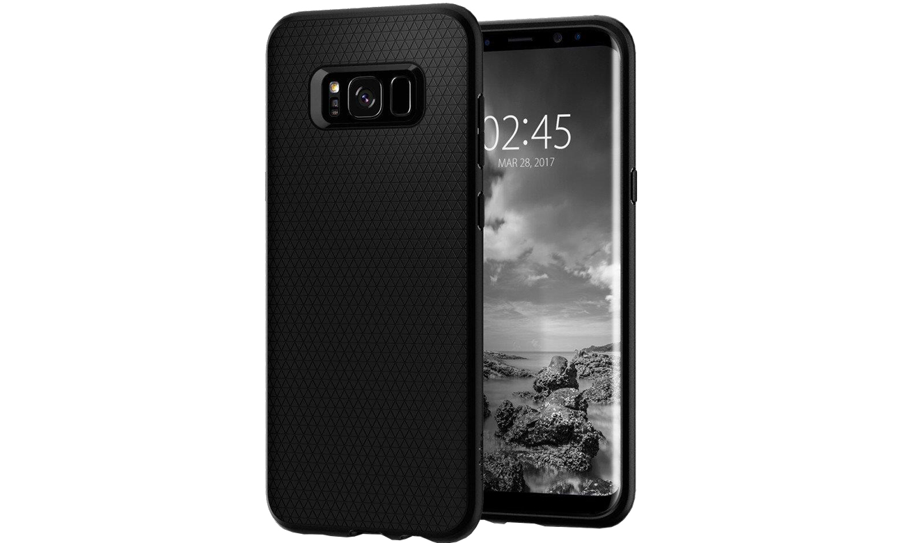 Spigen Liquid Air Galaxy S8 Black tekstura