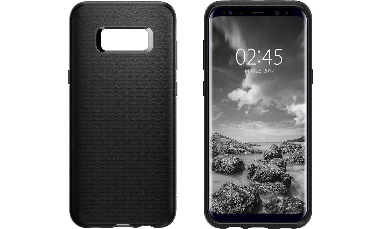 Spigen Liquid Air Galaxy S8 Black przód i tył