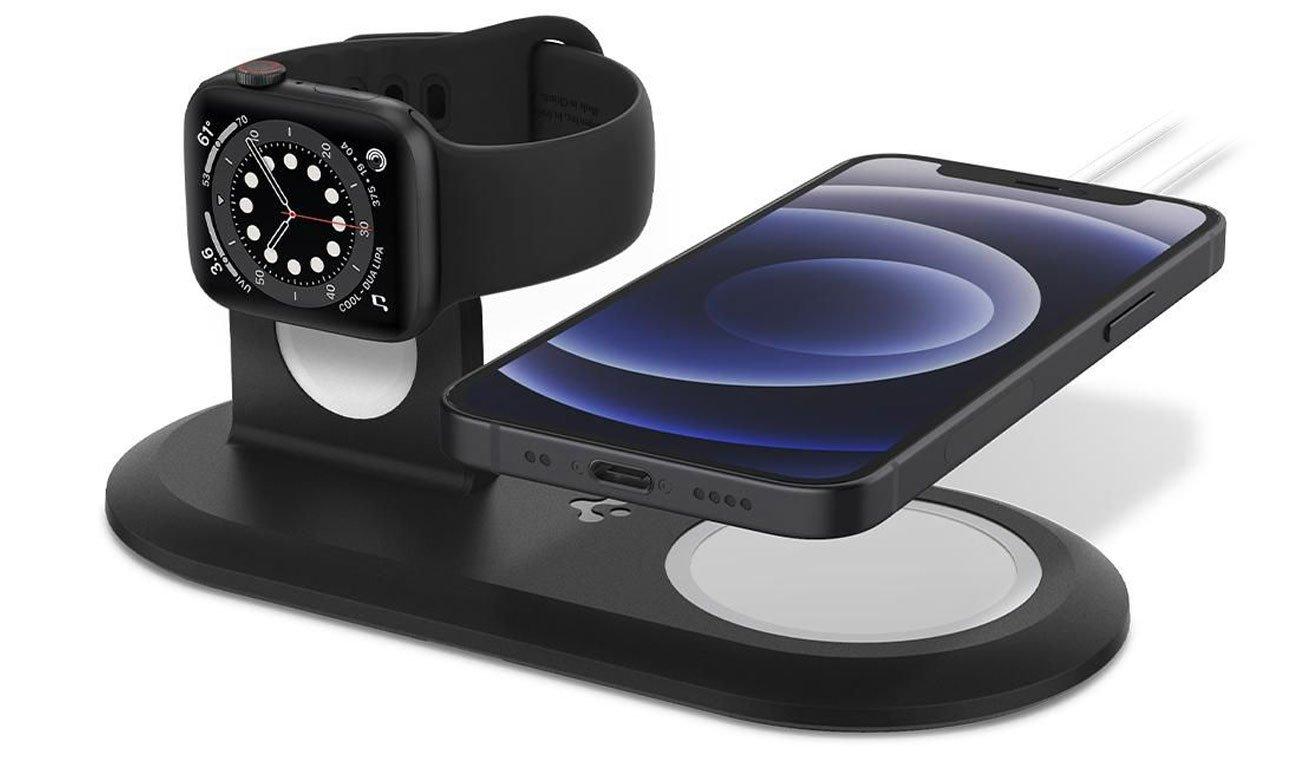 Ładowarka do smartfonów Spigen MagFit Duo MagSafe / Apple Watch Charger Stand