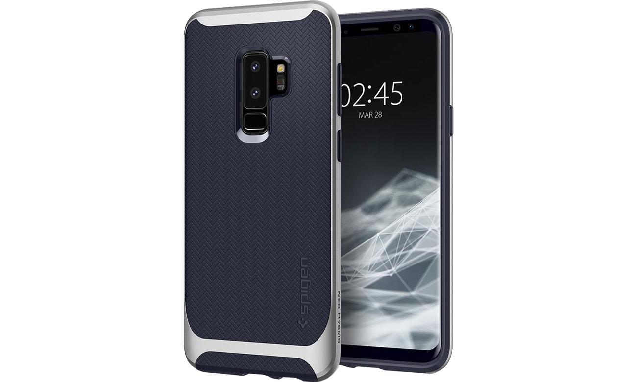 Spigen Neo Hybrid Galaxy S9+ Arctic Silver  TPU i poliwęglan