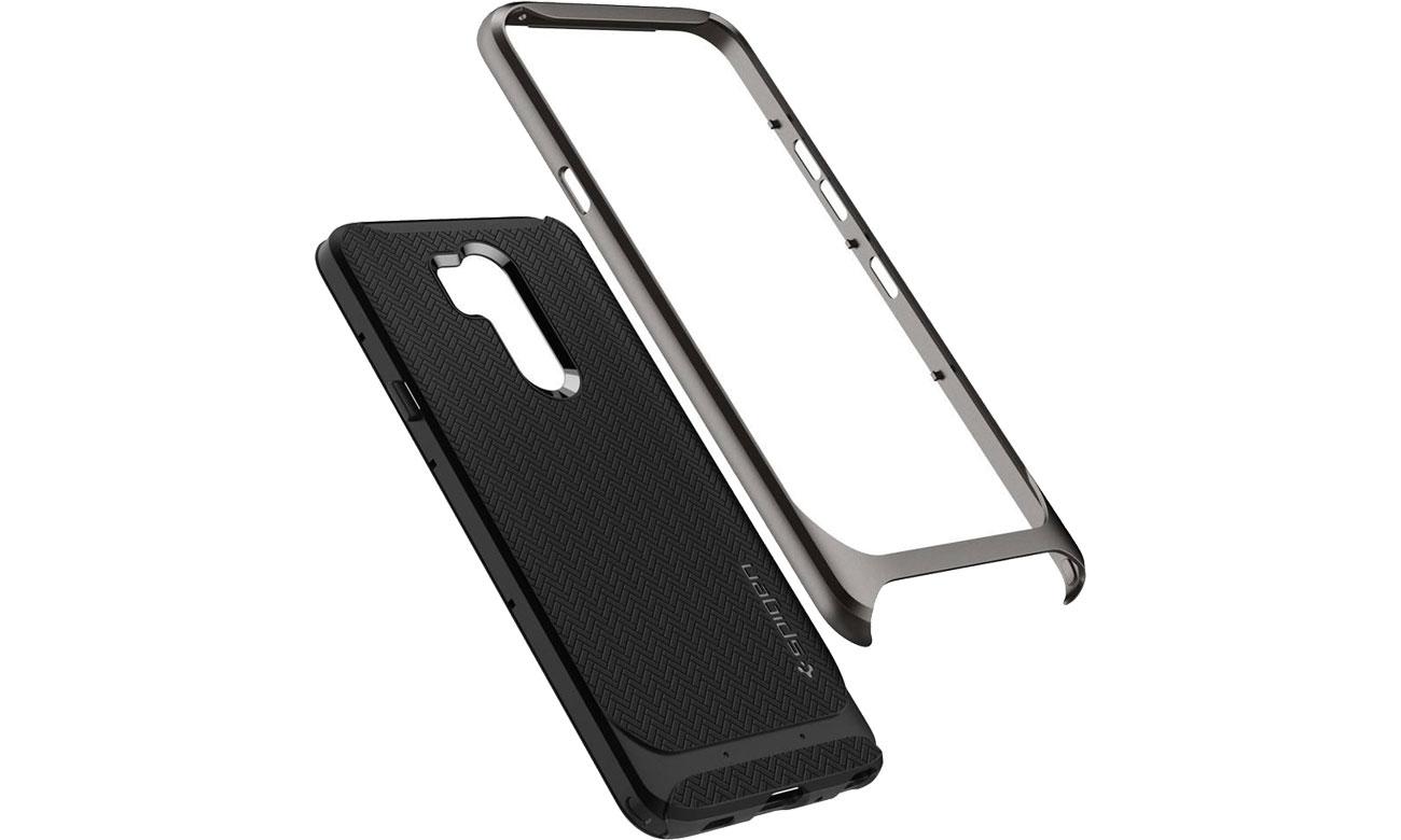 Spigen Neo Hybrid do LG G7 ThinQ Gunmetal Dwa materiały w jednym etui