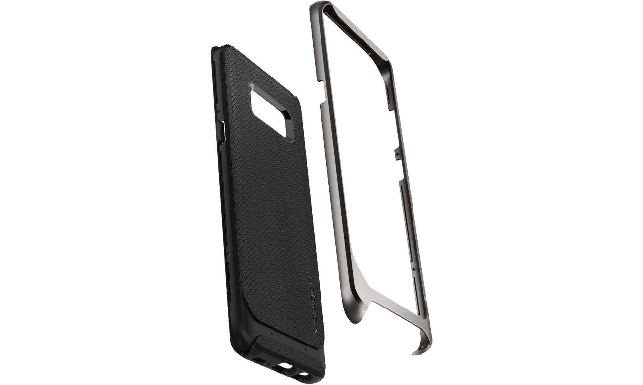 Spigen Neo Hybrid Galaxy S8 Gunmetal TPU i poliwęglan