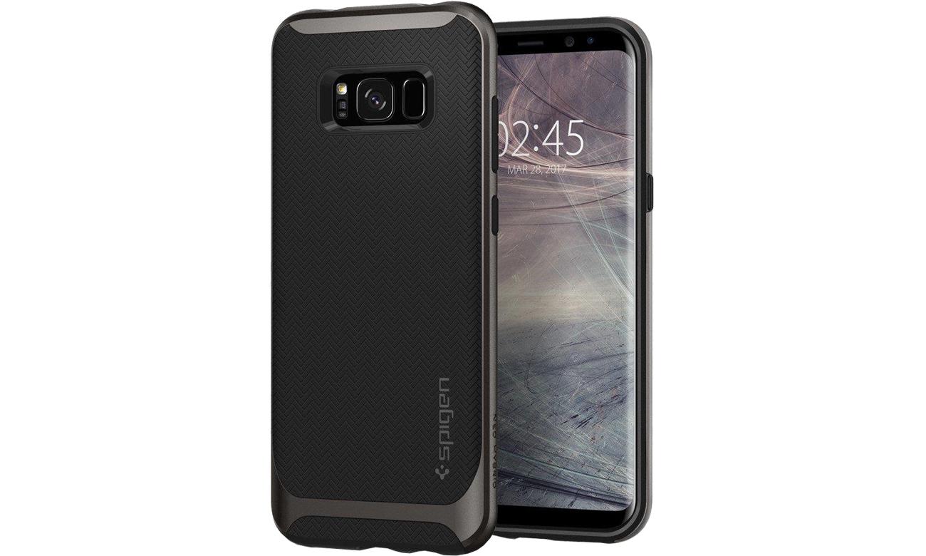 Spigen Neo Hybrid Galaxy S8 Gunmetal przód i tył