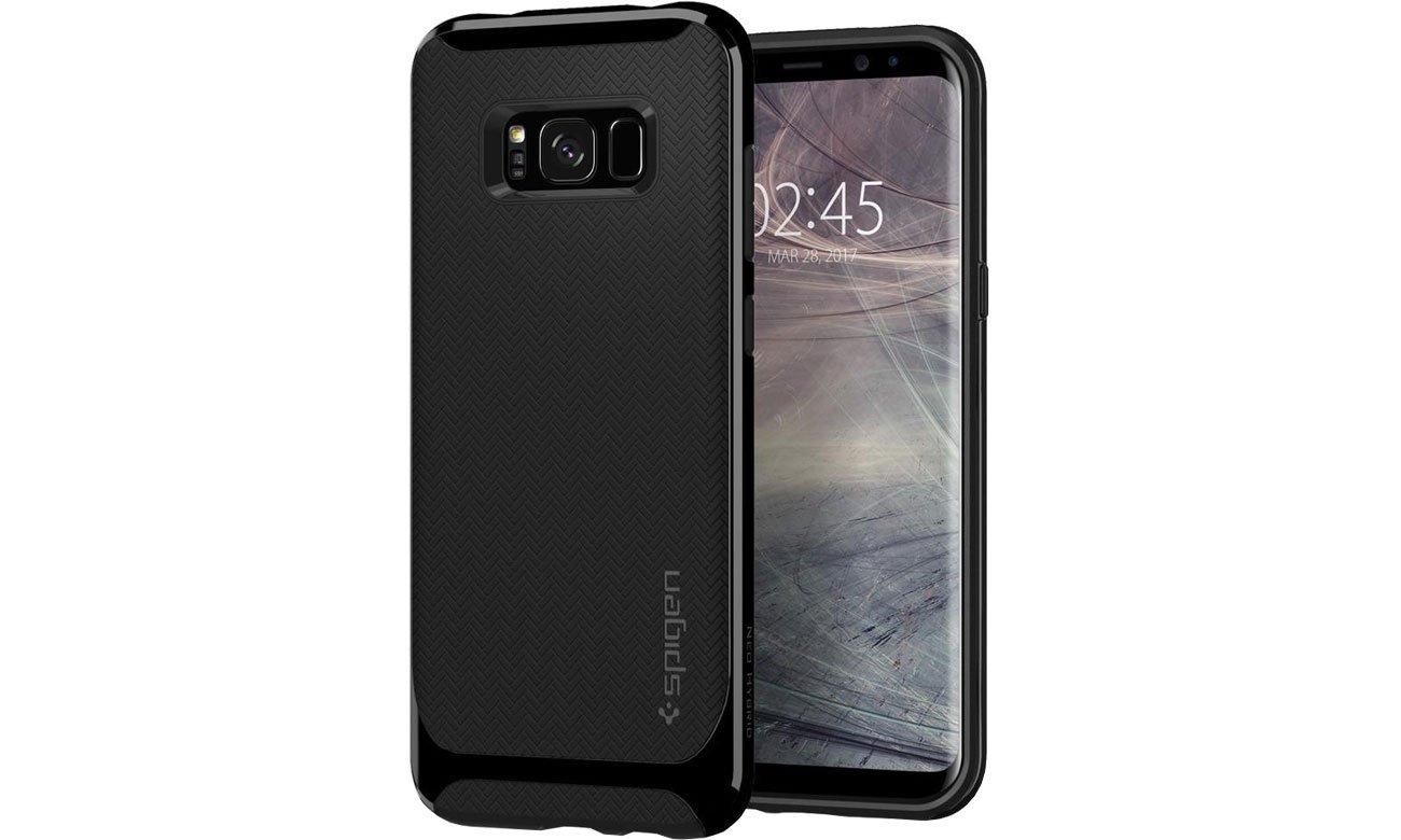 Spigen Neo Hybrid Galaxy S8 Shiny Black przód i tył