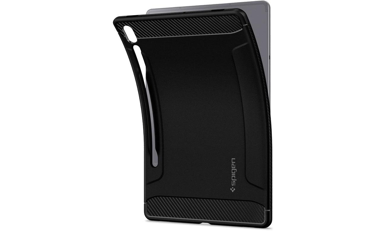 Etui na tablet Spigen Rugged Armor do Galaxy Tab S6 Lite czarny ACS00220