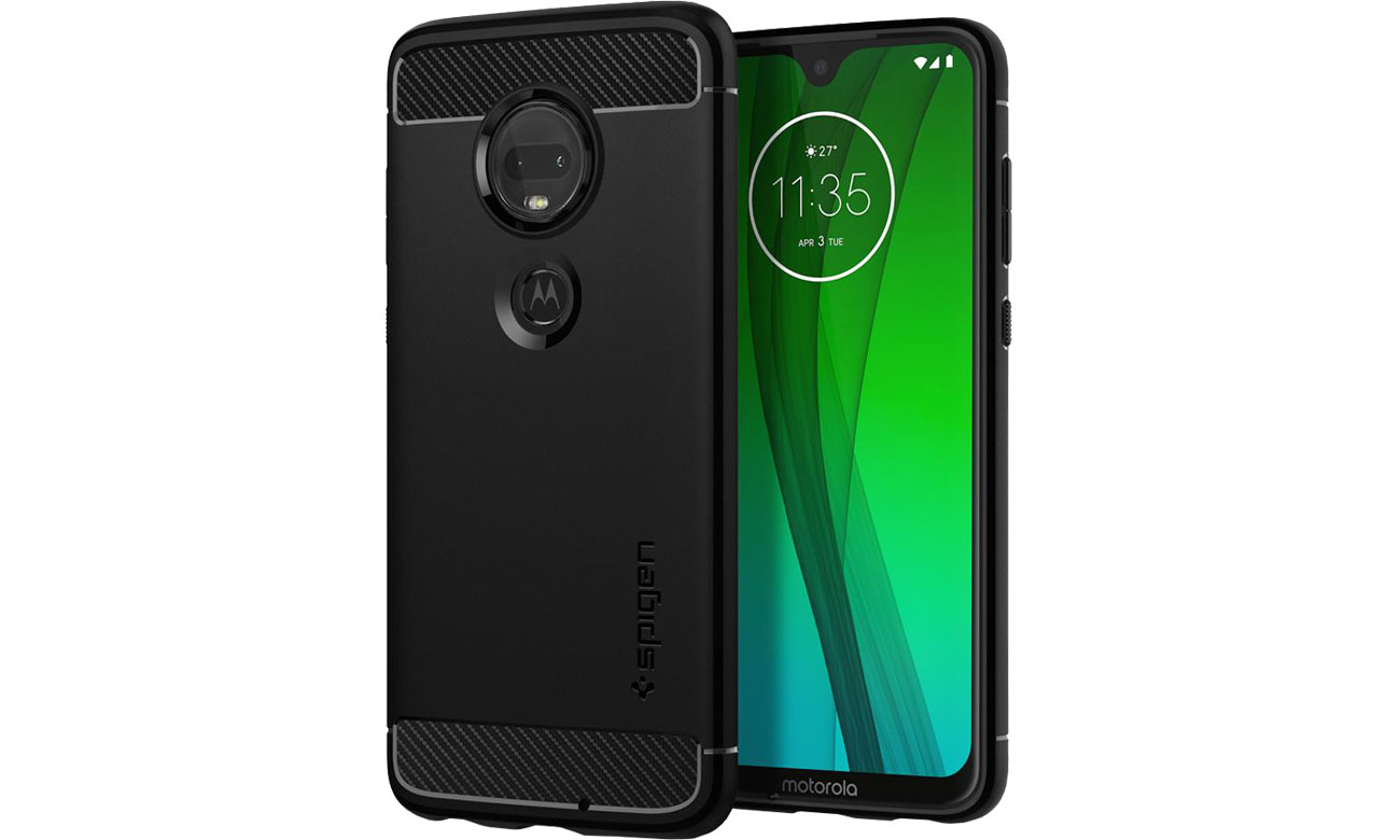 Etui Spigen Rugged Armor do Motorola Moto G7/G7 Plus Black M25CS25947