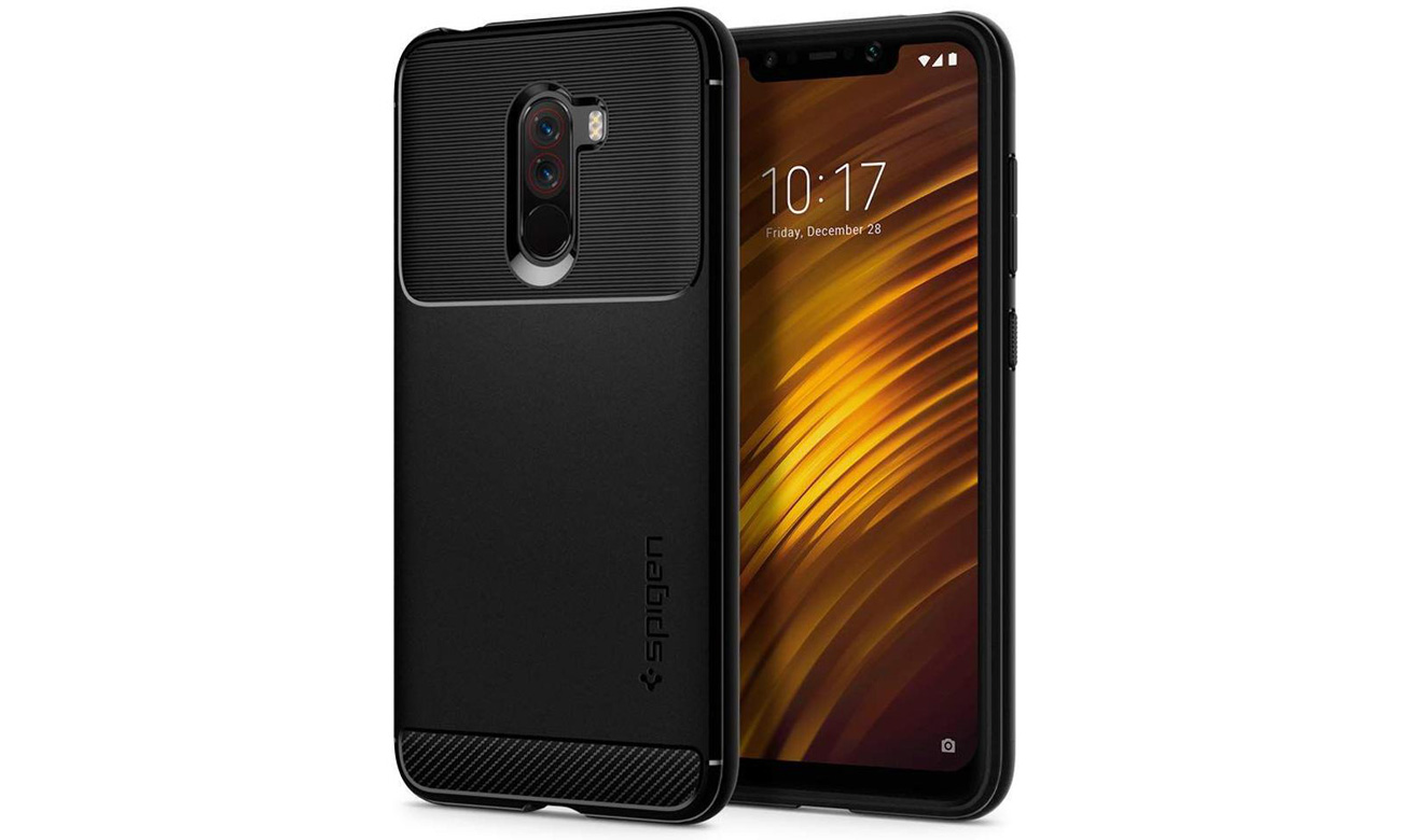 Spigen Rugged Armor do Xiaomi Pocophone F1 Black