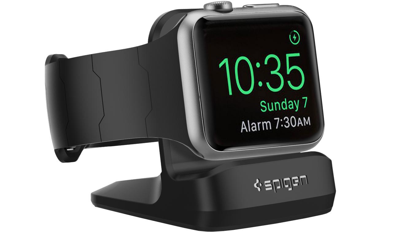 Stojak Spigen Night Stand S350 do Apple Watch 1/2/3 Czarny