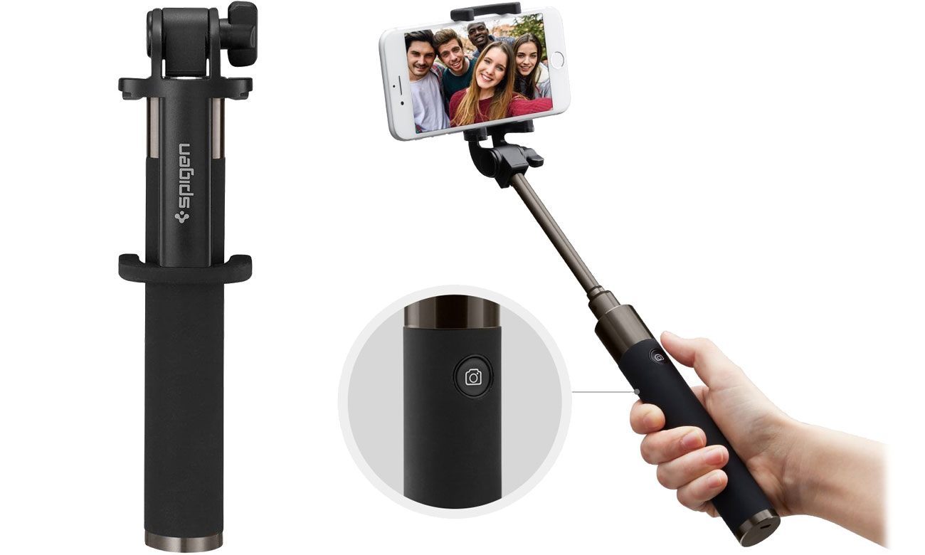 Kijek do selfie Spigen Wireless Selfie Stick S530W Black