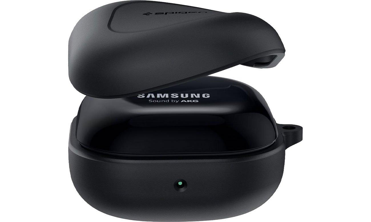 Etui Spigen Silicone Fit do Galaxy Buds Live czarny ASD01277