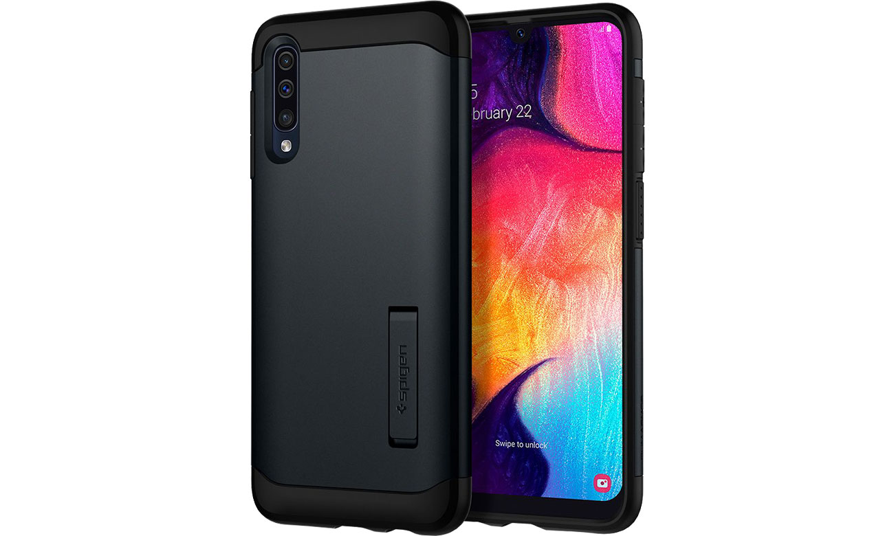 Etui Spigen Slim Armor do Samsung Galaxy A50/A30s Black