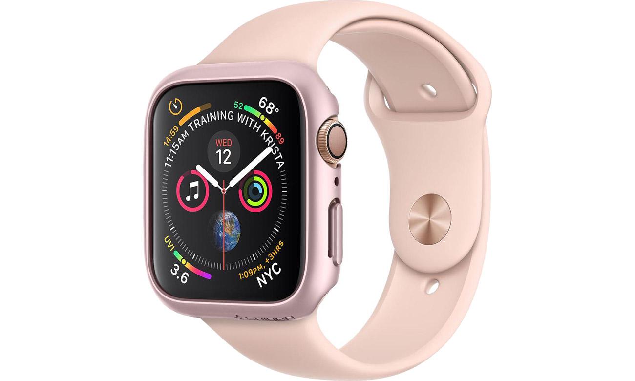 Obudowa Thin Fit Apple Watch 4/5 44 mm Rose Gold