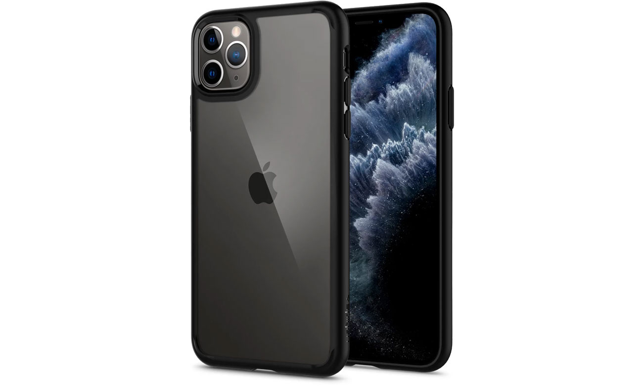 Etui na smartfona Spigen Ultra Hybrid do iPhone 11 Pro Max Black
