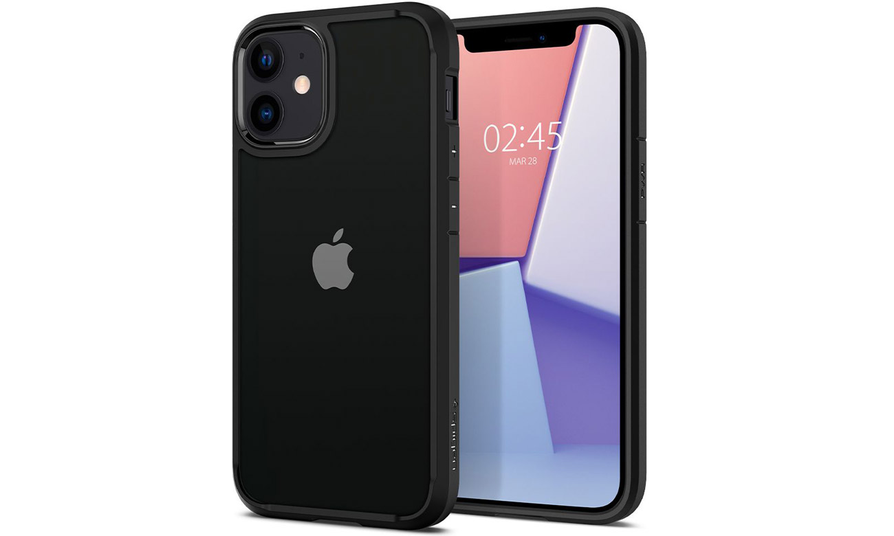 Spigen Ultra Hybrid Black do iPhone 12 Mini