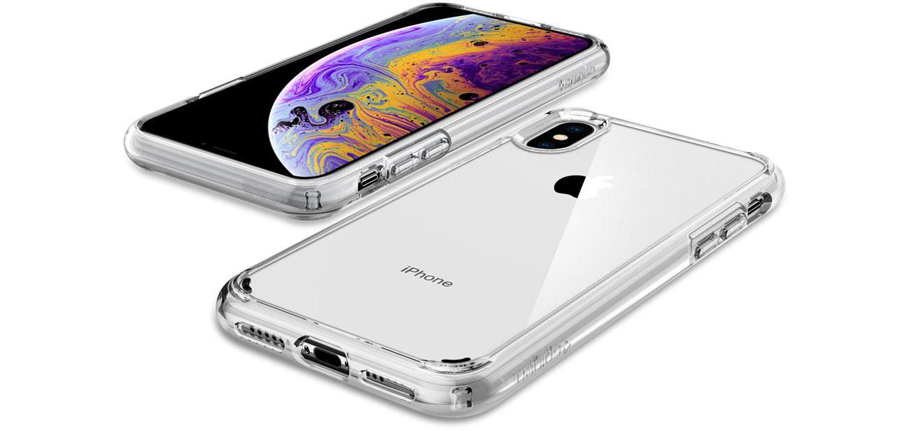 Spigen Ultra Hybrid do iPhone XS upadki