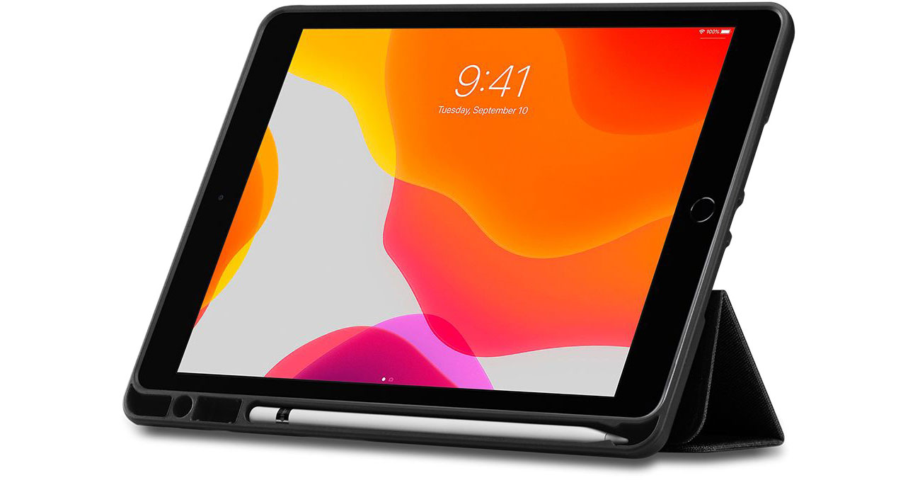 Etui na tablet Spigen Urban Fit do iPad 7 generacji czarny ACS01060