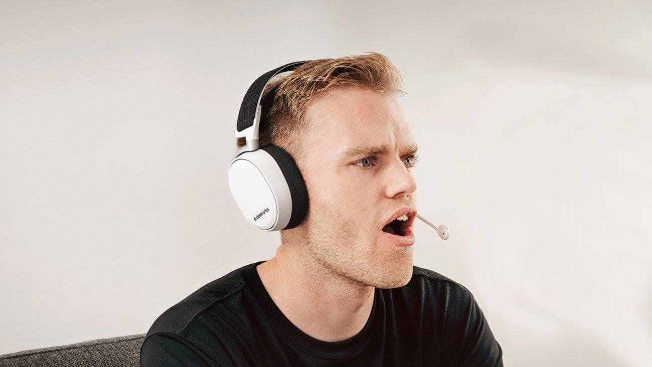WLAN Verbindung mit dem Kopfhörer STEELSERIES Arctis Pro Wireless Gaming Headset weiß 61474