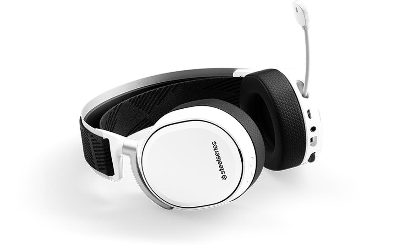2,4 G kabelloser Sound im Kopfhörer STEELSERIES Arctis Pro Wireless Gaming Headset weiß 61474