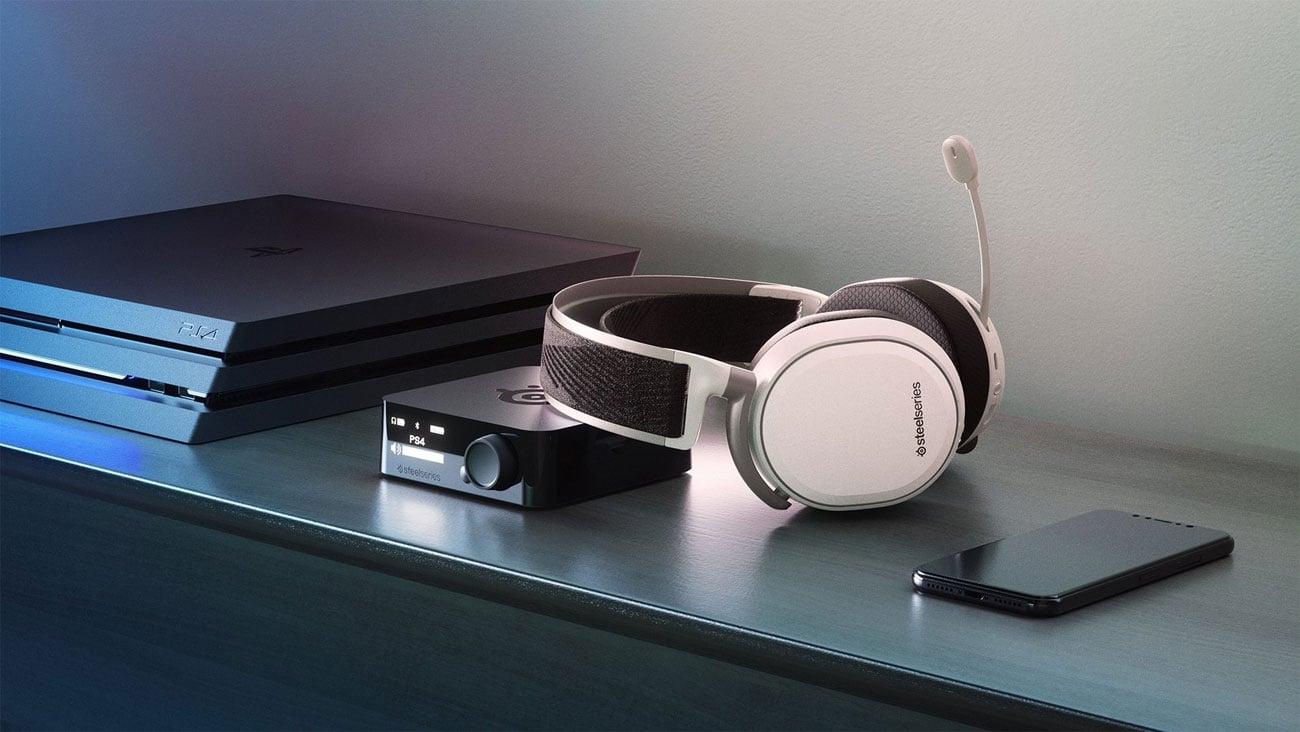 Die Generation von DTS Surround Sound Headphone X v2.0 STEELSERIES Arctis Pro Wireless Gaming Headset weiß 61474