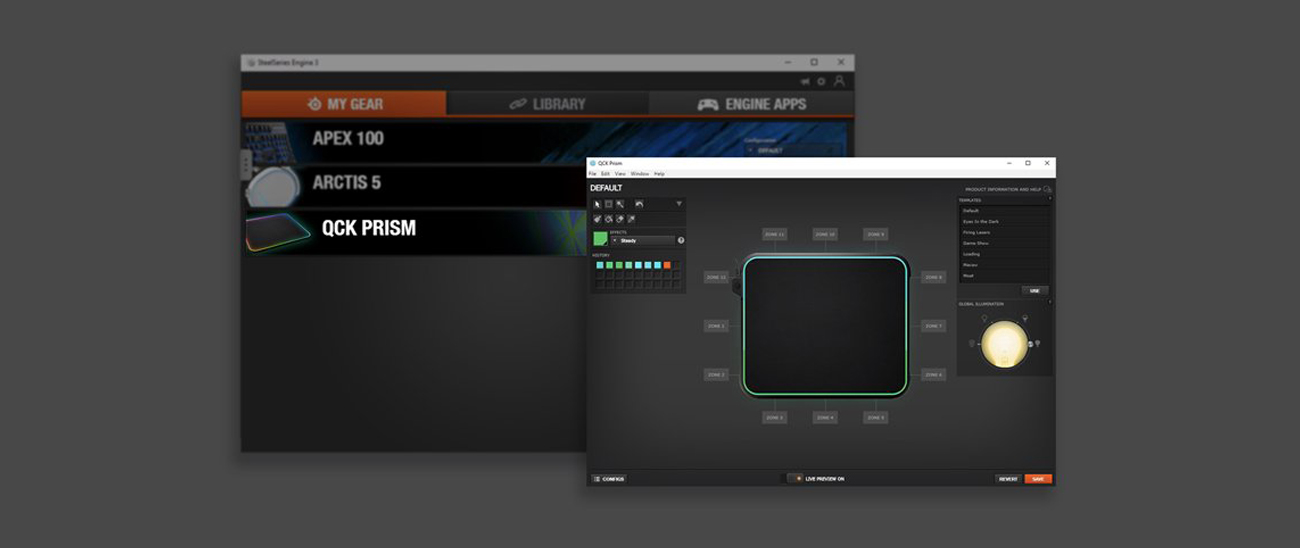 SteelSeries Qck Prism Aplikacja