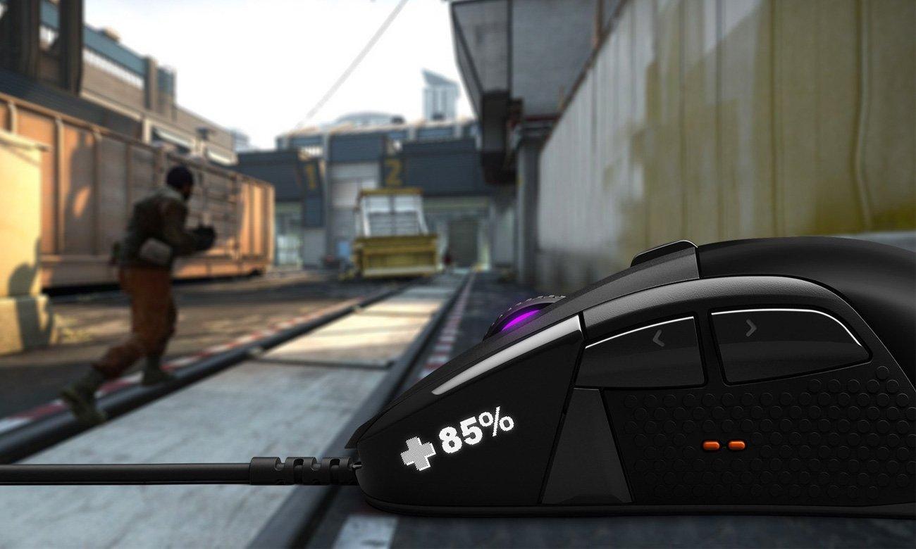 SteelSeries Rival 710 Wyświetlacz OLED